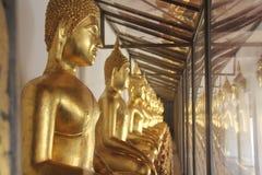 Hall Złoty Buddahs Fotografia Royalty Free