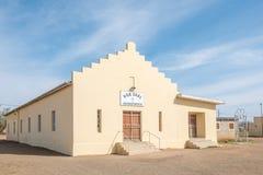 Hall Zlany Reformowany kościół w Loeriesfontein fotografia stock