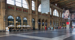 Hall of the Zurich Main Railway Station Royalty Free Stock Photo