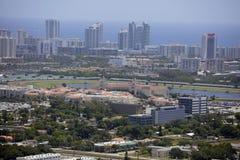 Hallandale佛罗里达的空中图象 免版税图库摄影