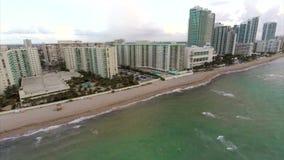 Hallandale Beach aerial video stock video footage