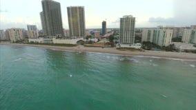 Hallandale Beach aerial video. Aeiral video footage of Hallandale Beach FL stock video