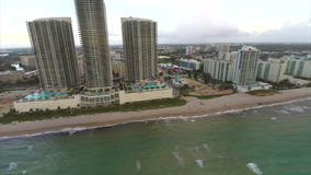 Hallandale Beach aerial video stock video
