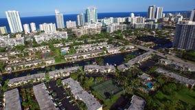 Hallandale Beach FL aerial video stock video footage
