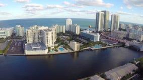 Hallandale Beach Florida stock video footage
