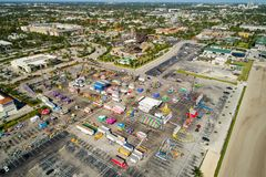 Aerial image of the Broward County Fair and expo Royalty Free Stock Image