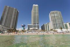 Hallandale plaża, Floryda obrazy royalty free