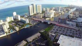 Hallandalestrand Florida stock footage