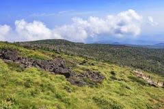 Hallasan-Berg in Jeju-Insel, Südkorea lizenzfreie stockfotos