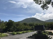Hallasan-Sommeransicht in Jeju-Insel Korea stockbild