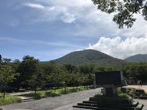 Hallasan summer view in Jeju Island Korea. Nice weather in Hallasan Mountain climbing in Jeju Island Korea stock image