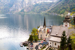 Hallattat. View beautiful  in Hallsttat,Austria Stock Images