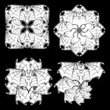 Hallaween circular ornament with bats Royalty Free Stock Images