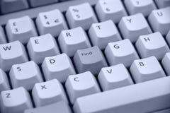Hallazgo del botón del teclado Imágenes de archivo libres de regalías