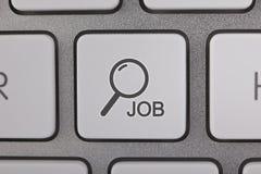 Hallazgo Job Button Fotografía de archivo libre de regalías