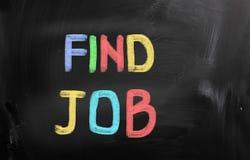 Hallazgo Job Concept Imagen de archivo libre de regalías
