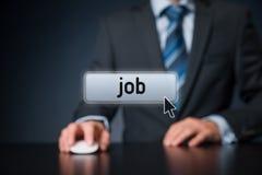 Hallazgo Job Concept Imagen de archivo