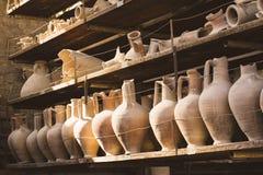 Hallazgos y artefactos antiguos en la ciudad antigua Pompeya en Italia Imagen de archivo