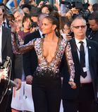 Halle Berry at the `Kings` premiere. Actress Halle Berry at the `Kings` premiere during the 2017 Toronto International Film Festival at Roy Thomson Hall on Stock Image