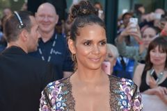 Halle Berry at the `Kings` premiere. Actress Halle Berry at the `Kings` premiere during the 2017 Toronto International Film Festival at Roy Thomson Hall on Royalty Free Stock Image