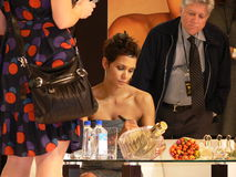 Halle Berry in Poland (07) Royalty Free Stock Photos