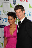 Halle Berry,Robin Thicke Royalty Free Stock Images