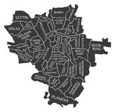 Halle city map Germany DE labelled black illustration. Halle city map Germany DE labelled black Royalty Free Stock Photos