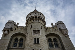 Halle Gate in Brussels on a cloudy day, Belgium Stock Photos