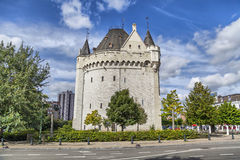 Halle Gate - medieval fortified city gate in Brussels Stock Image