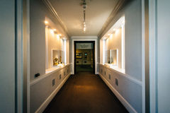 Halle innerhalb des Walters Art Museums, in Mount Vernon, Baltimo stockbild