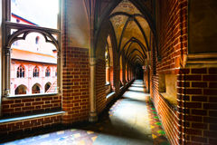Halle mit gewölbte Decke Malbork-Schloss Lizenzfreies Stockbild