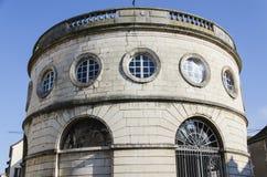 Halle Ronde em Givry, Borgonha, França, Saône-et-Loire, couleur, vertical Fotografia de Stock Royalty Free
