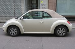 Off white Volkswagen New Beetle cabrio Stock Image