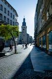 Halle Saale, Leipzig wierza przy Hansering obrazy royalty free