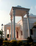 Halle TheKarikala Cholan Manimandapam- aufgestellt im großartigen Kallanai lizenzfreies stockbild