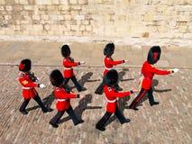 HALLEBARDIERS, LONDRES - 3 AOÛT Image libre de droits