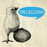 Hallelujah - carta di pasqua felice Immagini Stock Libere da Diritti