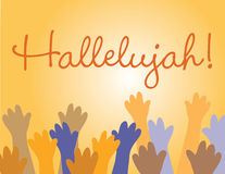 Hallelujah Gesù! Fotografie Stock Libere da Diritti