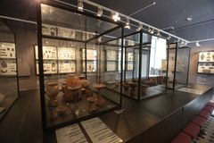 Hallen des Arsenyev-Museums stockfoto