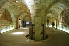 Hallen des Ritters - Akko (Morgen), Israel Stockfotografie