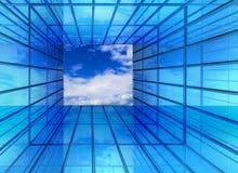 Hallenfenster zur Zukunft Lizenzfreie Stockfotografie