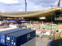 Halles De Paris en construction Image stock