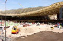 Halles de Paris under construction - Paris Royalty Free Stock Photo