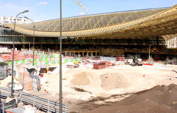Halles de Paris under construction - Paris Stock Photography
