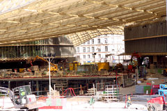 Halles de Paris under construction - Paris Stock Image