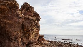 Hallett Cove Beach Rock Formation. Hallett Cove Beach, Adelaide ,Australia Stock Image
