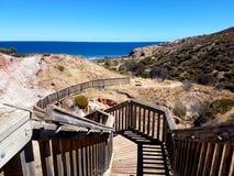 Hallett liten vikbeskydd parkerar - den Sugarloaf strandpromenaden Fotografering för Bildbyråer