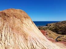 Hallett liten vikbeskydd parkerar - Sugarloaf havssikt royaltyfria bilder