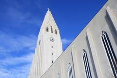 Hallgrímskirkja Iceland. Hallgrímskirkja (Icelandic pronunciation: [ˈhatlkrimsˌcʰɪrca], church of Hallgrímur) is a Lutheran (Church of Iceland) parish stock photo
