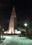 Hallgrímskirkja in Reykjavík Royalty Free Stock Images
